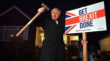 Boris Johnson podczas kampanii wyborczej.