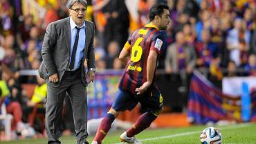 Gerardo Martino podczas meczu Barcelony