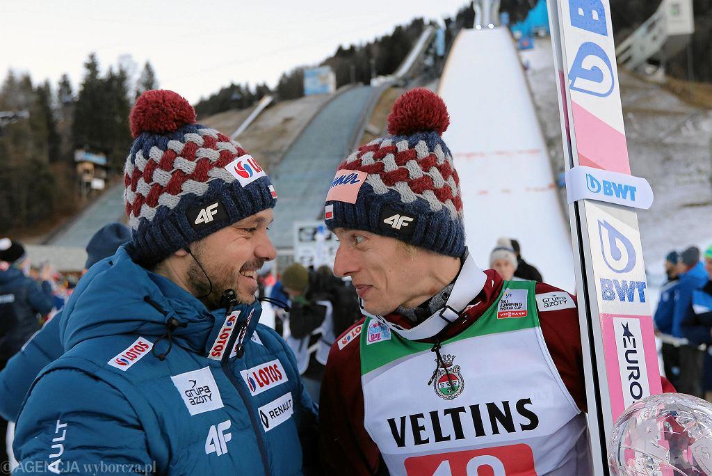 Michal Dolezal i Dawid Kubacki (z prawej)