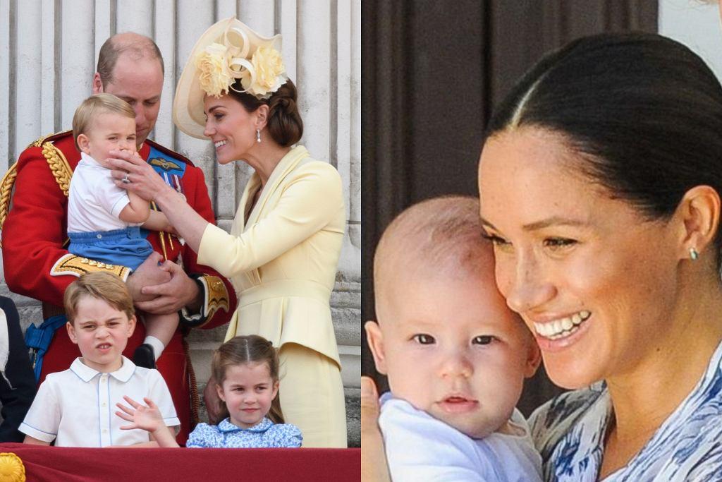 Księżna Kate i książę William, Meghan Markle z dziećmi