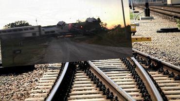 Pociąg w USA uderzył w naczepę wyładowaną samochodami