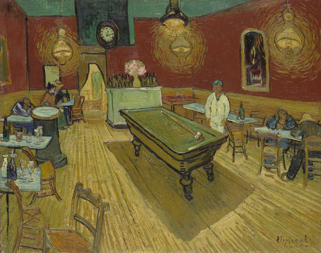 Vincent van Gogh, Nocna kawiarnia, 1888 / Domena publiczna / Yale University Art Gallery