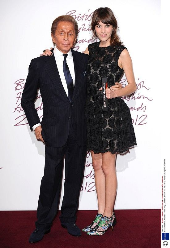 Mandatory Credit: Photo by David Fisher / Rex Features (1994758d)  Alexa Chung and Valentino  British Fashion Awards, The Savoy, London, Britain - 27 Nov 2012