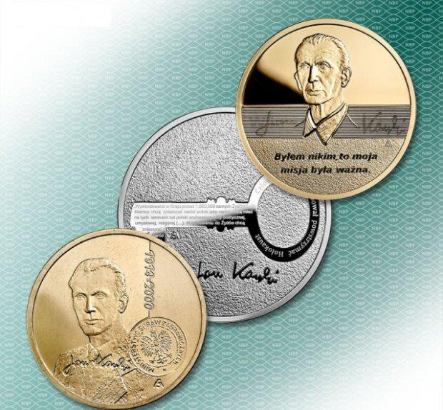 Pamiątkowe monety upamiętniające Jana Karskiego