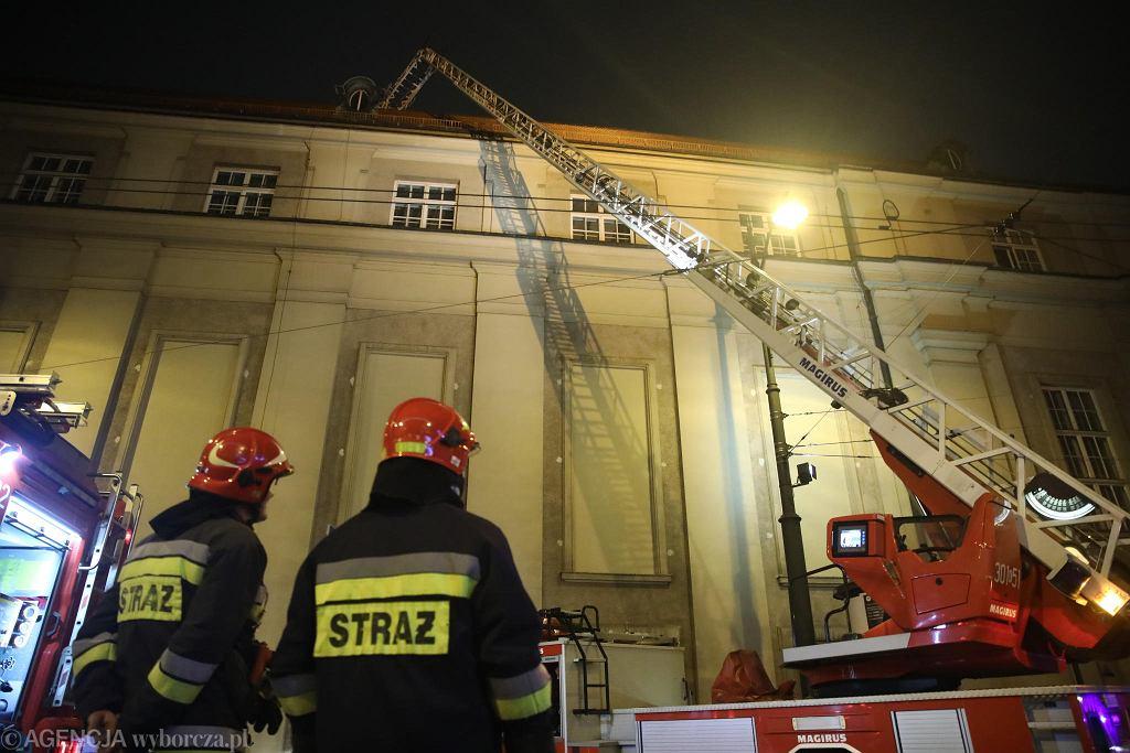 Pożar w budynku Filharmonii Krakowskiej