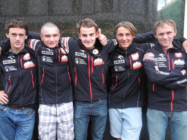 Od lewej: Mateusz Zabłocki, Artur Małek, Mateusz Grobel, Andrzej Bargiel, Krzysztof Starek