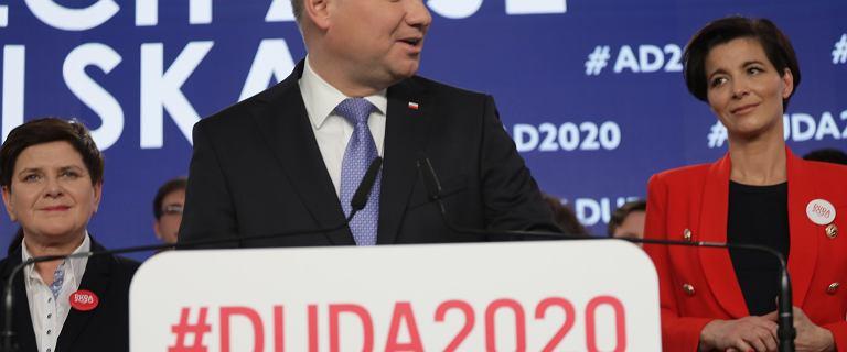 """Sztab Andrzeja Dudy. Prezydent mówił o """"obscenicznych gestach w Sejmie"""""""