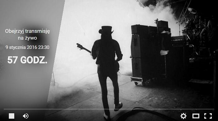 Pogrzeb Lemmy'ego będzie transmitowany w sieci na żywo.