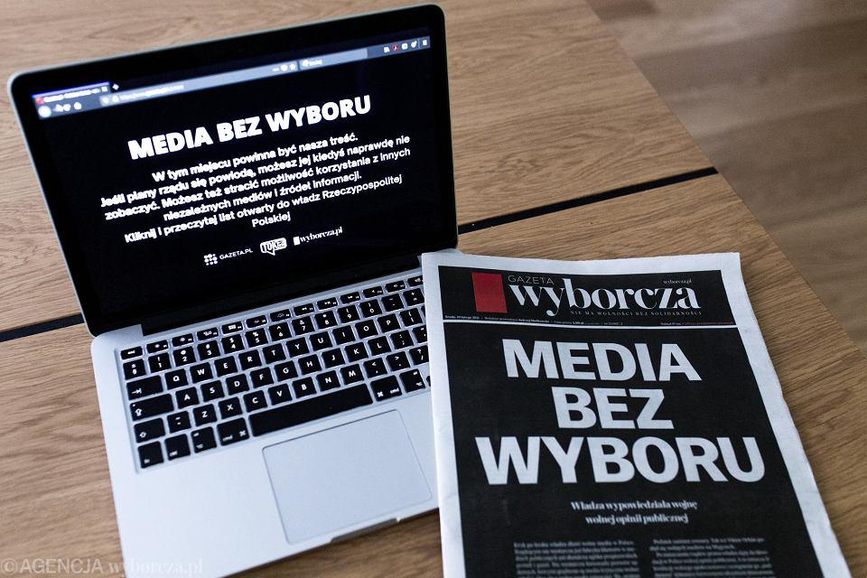 Środowa akcja 'Media bez wyboru '