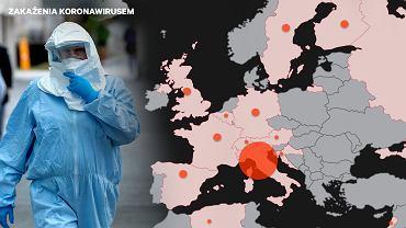 Mapa epidemii koronawirusa