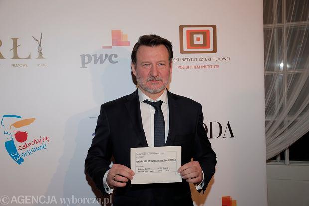 Robert Więckiewicz na gali Orły 2020 w Warszawie