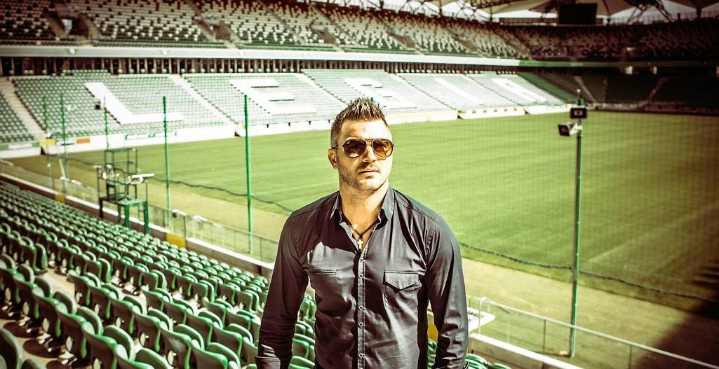 Michał Żewłakow na stadionie Legii Warszawa