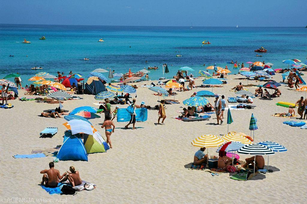 Plaża na wschodnim wybrzeżu Majorki
