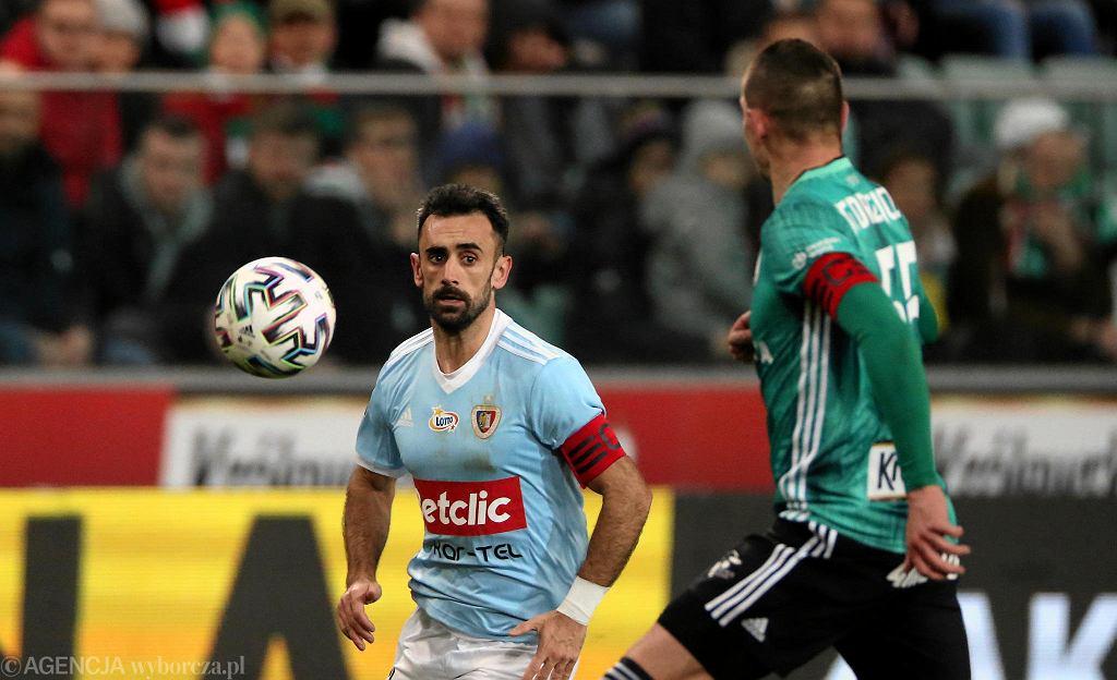 Legia - Piast Gliwice (1:2). Gerard Badia, kapitan Piasta