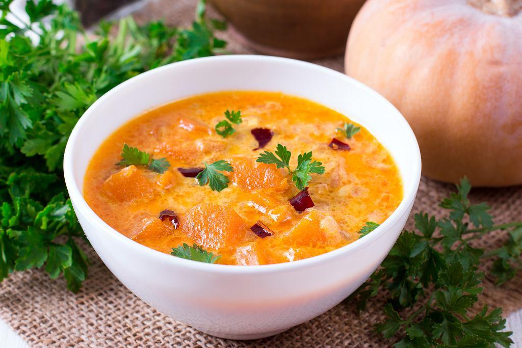Dyniowy gulasz curry w mleku kokosowym