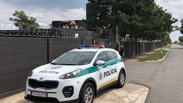 Słowacka policja pod siedzibą Nocnych Wilków 60 km od Bratysławy