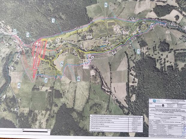 Mapa zbiornika Goszów