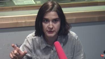 Agnieszka Wiśniewska w studiu radia TOK FM