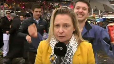Dziennikarka molestowana na wizji