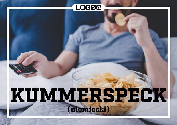 Kummerspeck (niemiecki) - nadmiar tkanki tłuszczowej spowodowany zajadaniem stresu. To