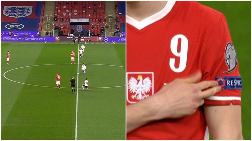 Początek meczu Anglia - Polska
