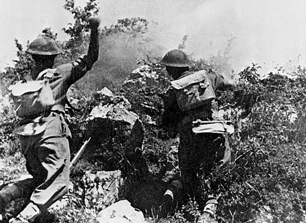 Polscy żołnierze podczas walk o Monte Cassino