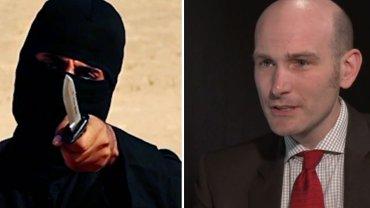 """Terrorysta znany jako """"Dżihadi John"""" i jego były więzień Nicolas Henin"""