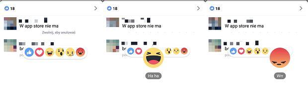 Reakcje także w komentarzach na Facebooku