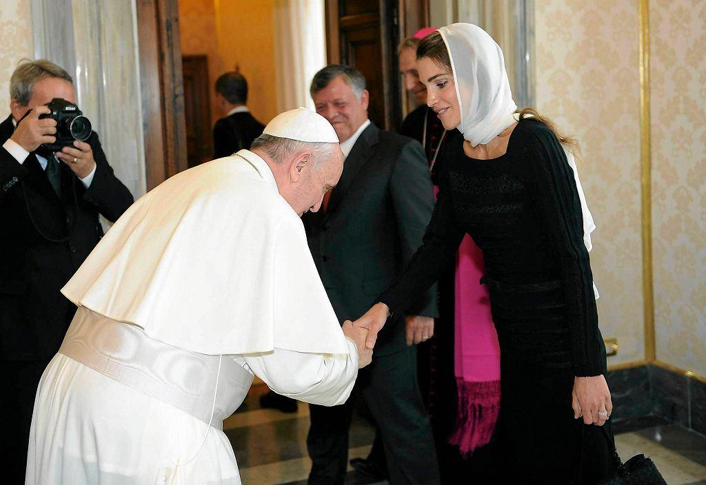 Franciszek i królowa Jordanii