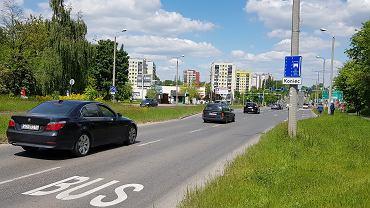 Buspas przy ul. Braci Mieroszewskich w Sosnowcu