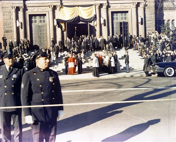 The body of the late President Kennedy is carried from St. Matthews Cathedral in Washington, D.C., following the funeral Mass on Nov. 25. Photo by David S. Schwartz/US Army Signal Corps/John F. Kennedy Presidential Library and Museum/MCT/ABACAPRESS.COM