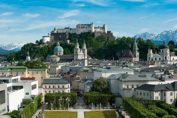 Twierdza Hohensalzburg i starówka w Salzburgu