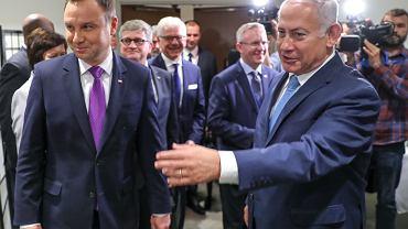 Andrzej Duda i Benjamin Netanjahu
