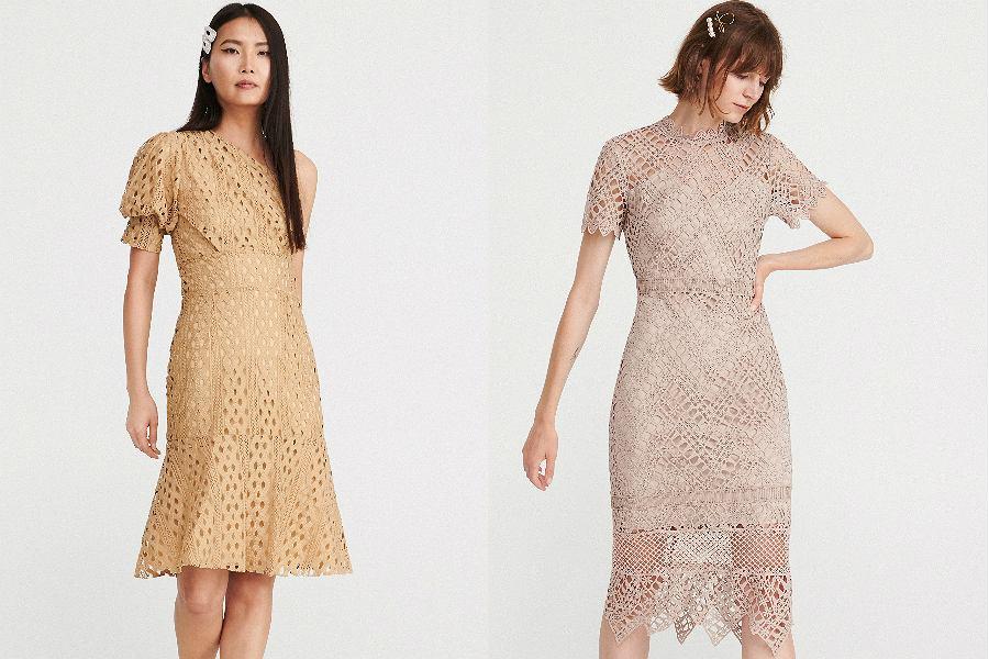 eleganckie sukienki ażurowe