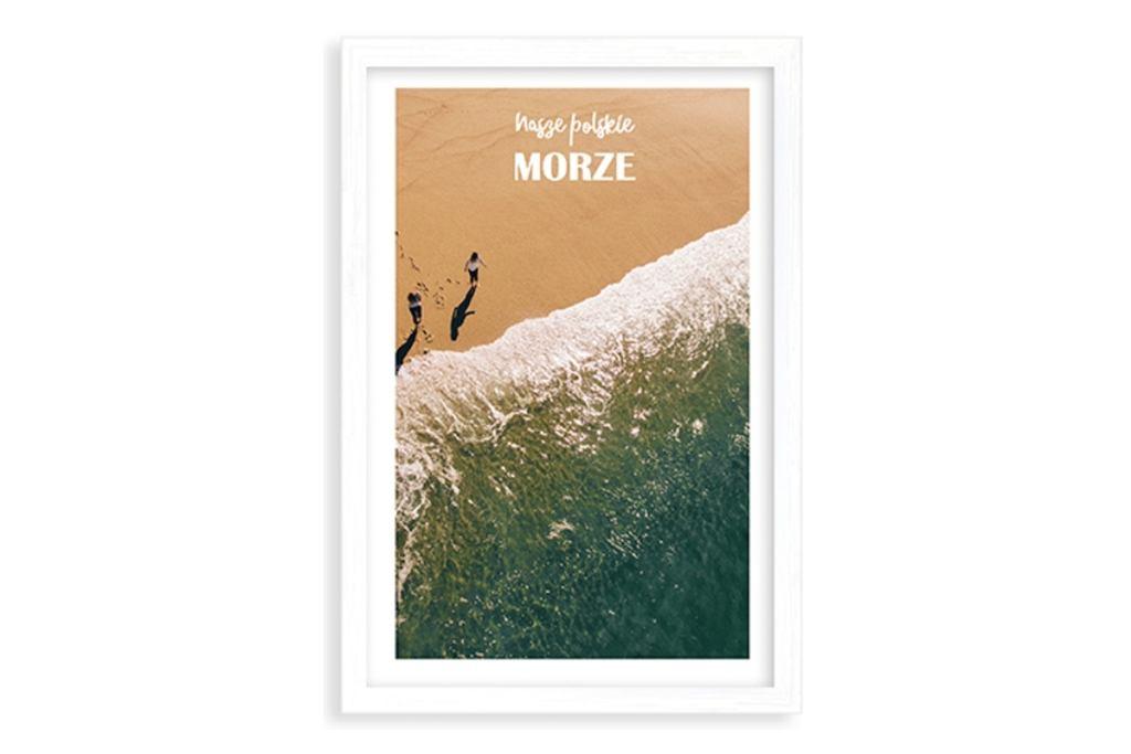 Plakat 'Wakacje nad morzem'.