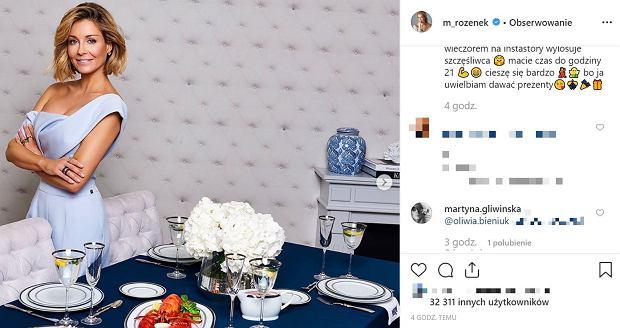 Martyna Gliwińska chce wygrać porcelanę od Małgosi Rozenek-Majdan