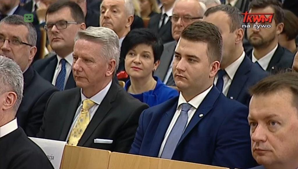 Bartłomiej Misiewicz na inauguracji roku akademickiego