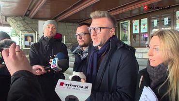 Jarosław Makowski podczas konferencji prasowej (5.02.2018)