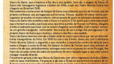 Ulotka o Gasparze da Gama