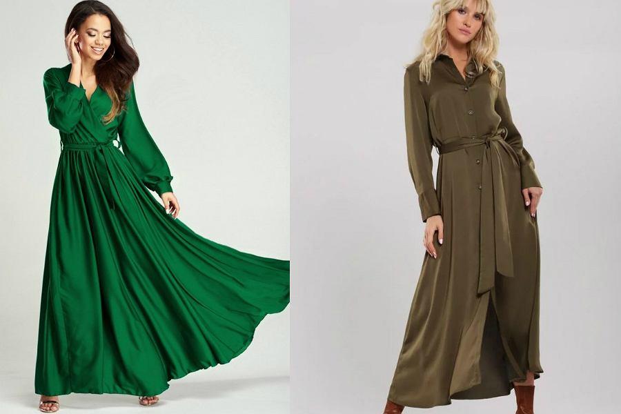 długie sukienki gładkie