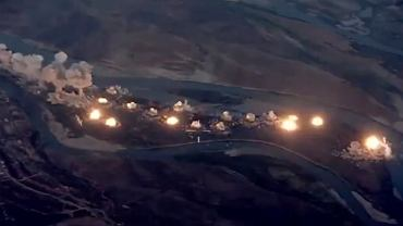 Nalot amerykańskich samolotów na iracką wyspę Qanus w ramach operacji Inherent Resolve.