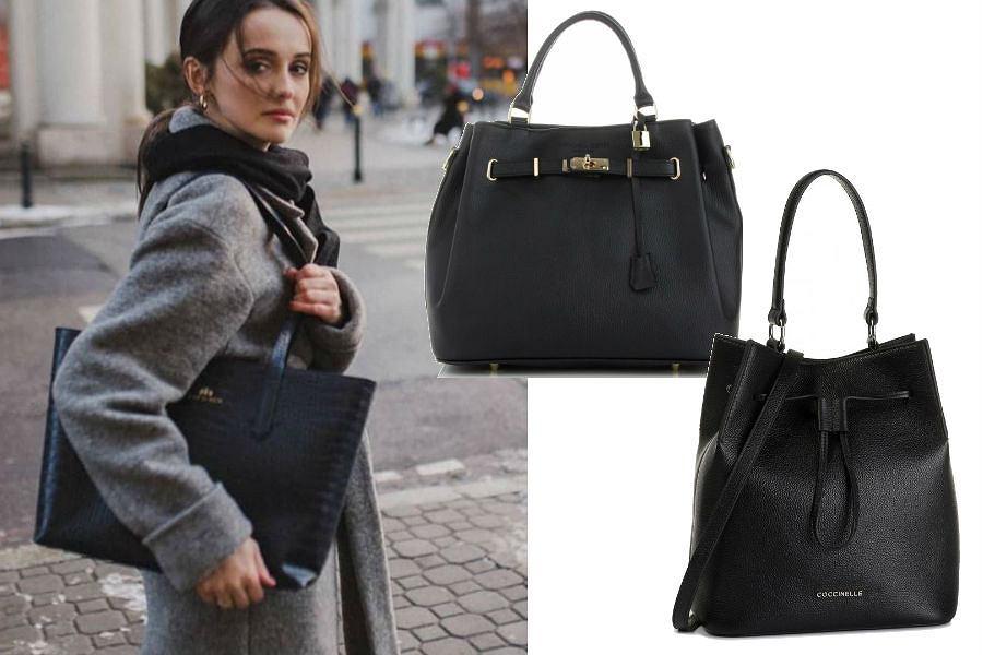 Czarne, pojemne torebki