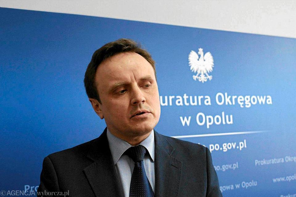 Artur Rogowski został nowym prokuratorem regionalnym we Wrocławiu. Na zdjęciu: podczas konferencji w Prokuraturze Okręgowej w Opolu, 23 marca 2015