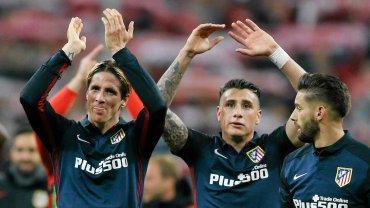 Radość Atletico: Fernando Torres, Jose Maria Gimenez i Yannick Carrasco