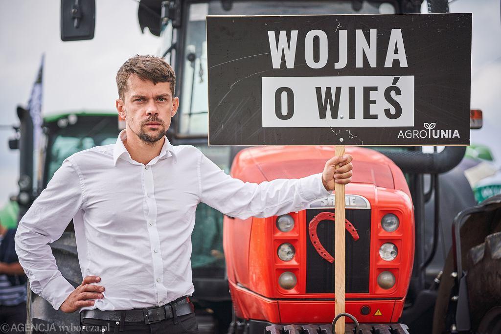 Protest rolników. Lider Agrounii Michał Kołodziejczak