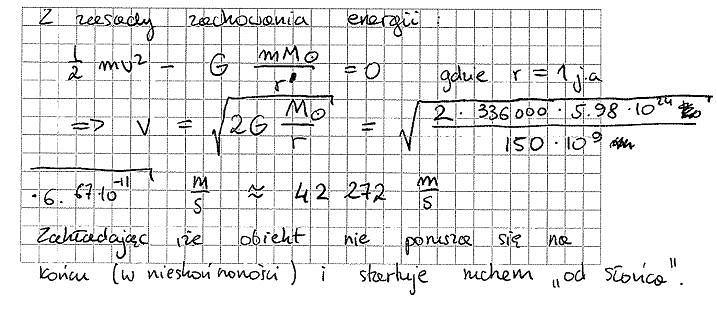 Matura fizyka rozwiązanie