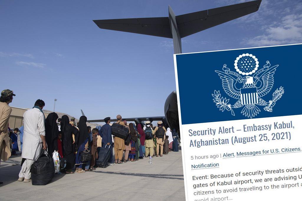 Ambasada USA w Kabulu. Amerykanie powinni unikać lotniska w Kabulu