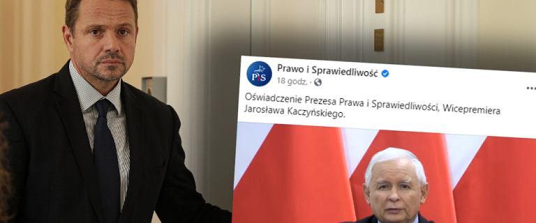 """Trzaskowski reaguje na oświadczenie Kaczyńskiego. """"Wie, że przegra"""""""