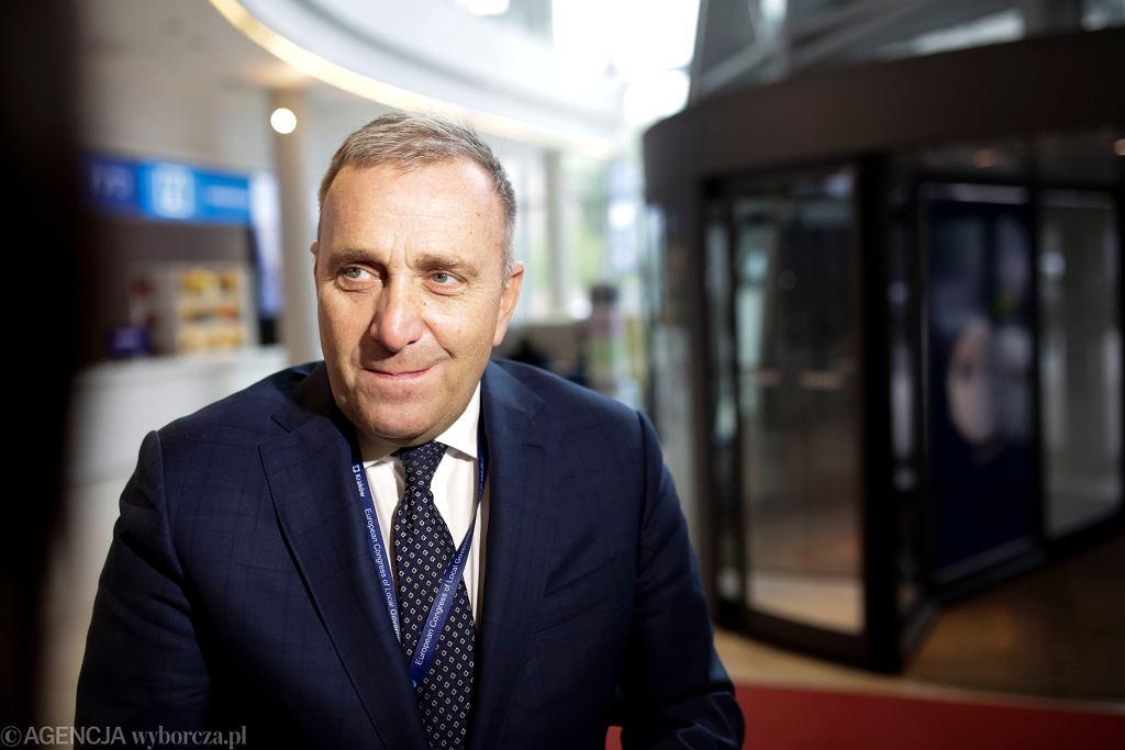 Grzegorz Schetyna podczas Europejskiego Kongresu Samorządów, kwiecień 2018