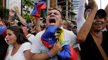 Antyrządowa demonstracja w Caracas, 23.01.2019 r.